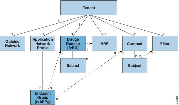 aci logical model relationship